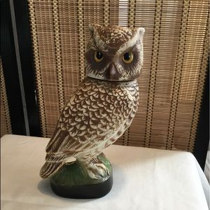 Vintage Jim Beam Owl Liquor Decanter
